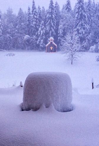 Gite le coupet chapelle hiver