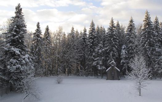 chapelle Gîte le Coupet hiver