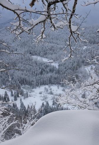 Vue du ciel - Gîte le Coupet hiver